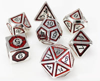 Metal Assassin Dice Silver Blood Red