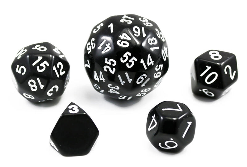 The Dice Lab Unique Polyhedral Set Black