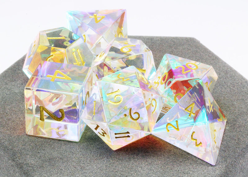 Dichroic Glass Dice Rainbow 2