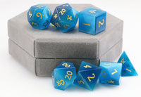 Blue CatsEye RPG Dice