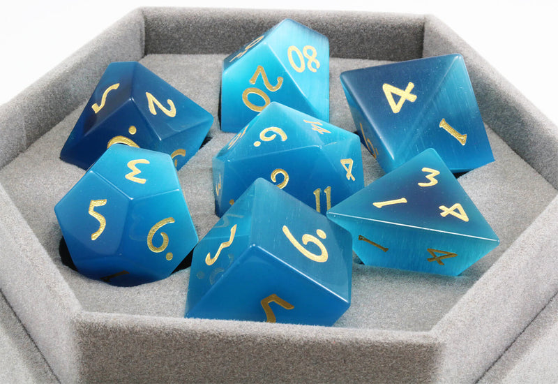 Blue Cat's Eye Dice