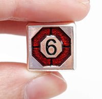 Metal Assassin Dice Silver Blood Red 3