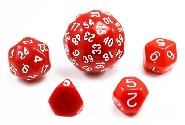 The Dice Lab Unique Polyhedral Set Red