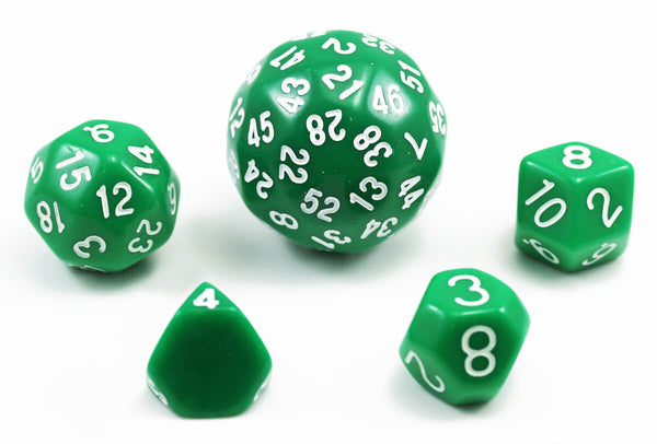 The Dice Lab Unique Polyhedral Set Green