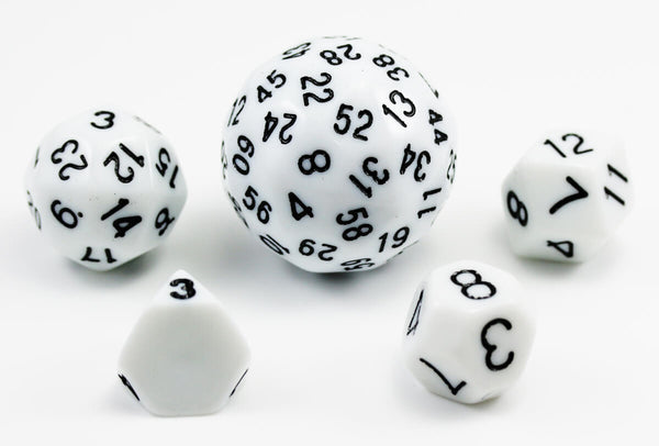 The Dice Lab Unique Polyhedral Set White