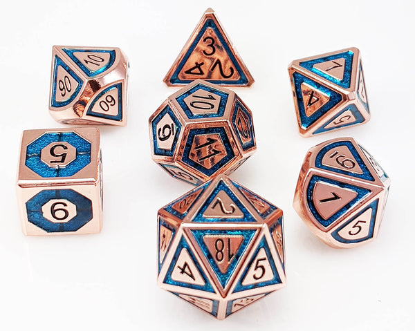 Metal Dice Assassin Copper and Teal