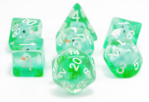 Rubber Ducky Dice (Green) | RPG Role Playing Game Dice Set