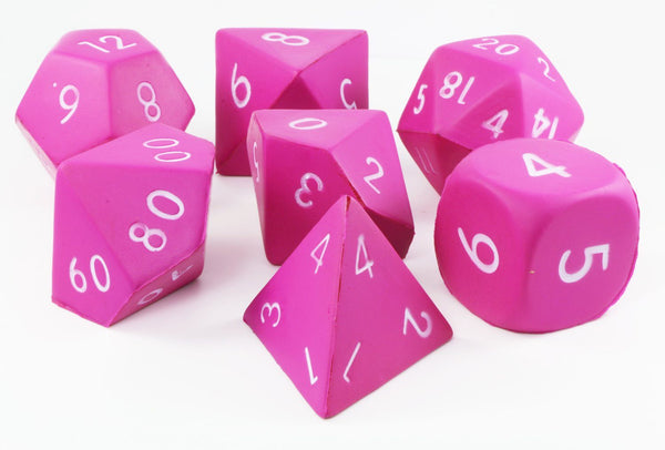 Pink Giant Foam Dice