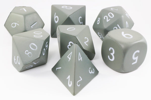 Grey Giant Foam Dice