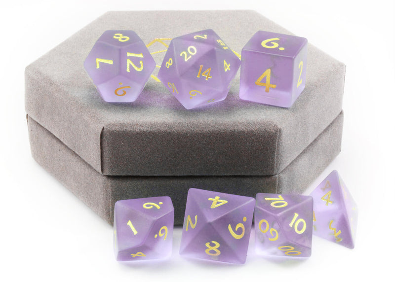 Glass DnD Dice Purple
