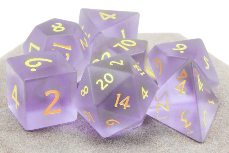 Glass Dice Frosted Purple