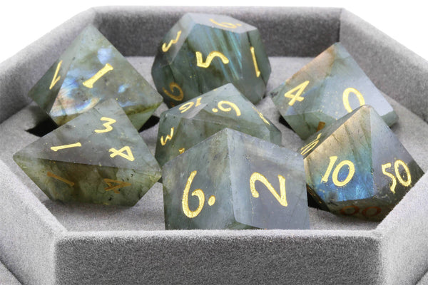 labradorite dice for dnd
