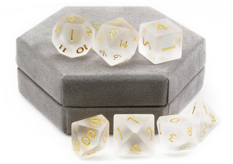 Frosted DnD Dice