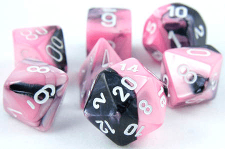 gemini dice pink black
