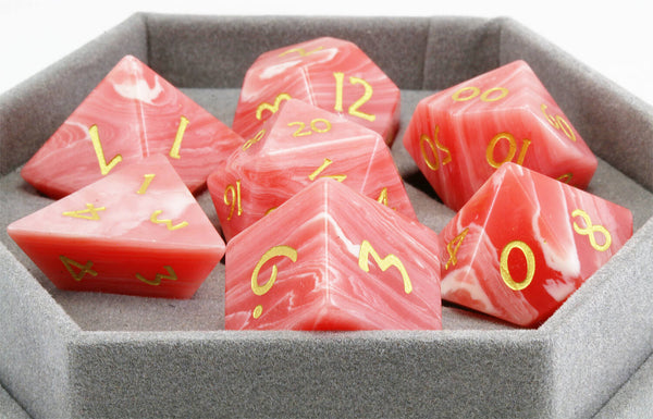 Red Agate D&D Dice