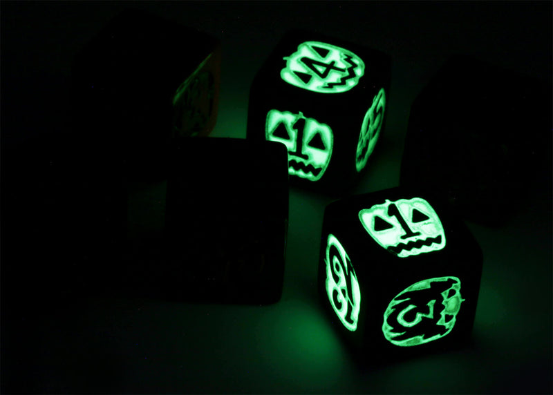 Glow in the dark Halloween dice