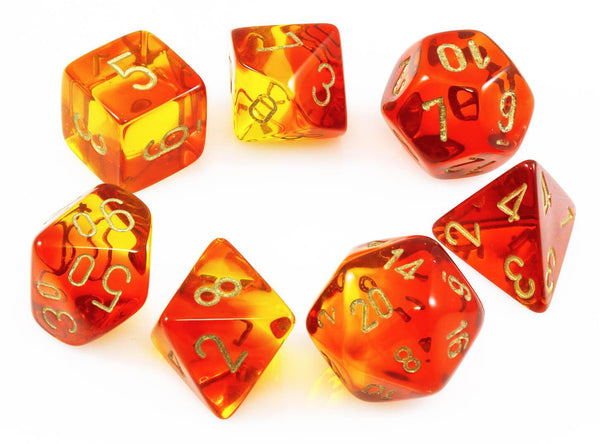 Chessex Lab Dice III Translucent Red