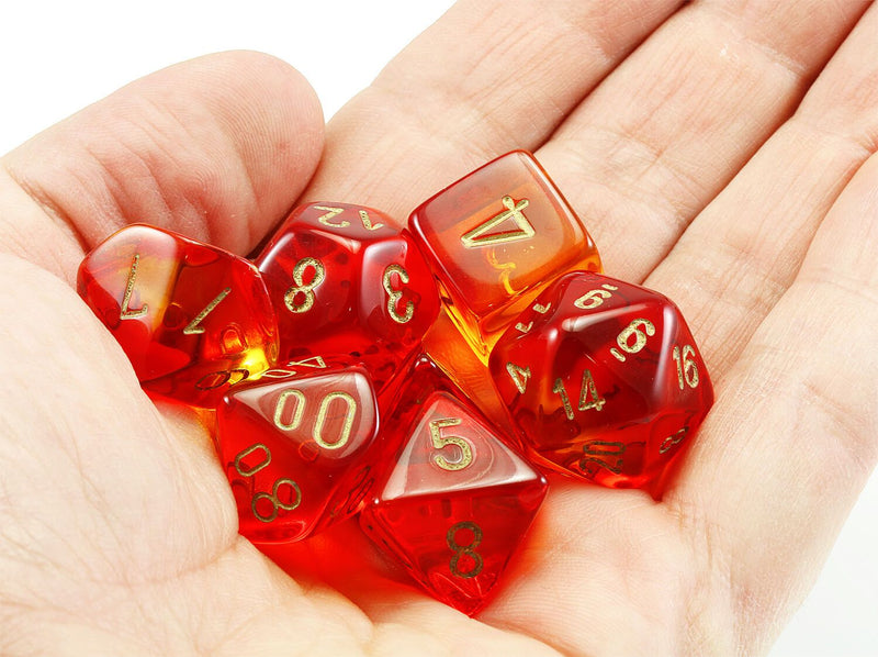 Chessex Lab Dice III Translucent Red 3