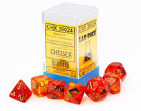 Chessex Lab Dice III Translucent Red 2