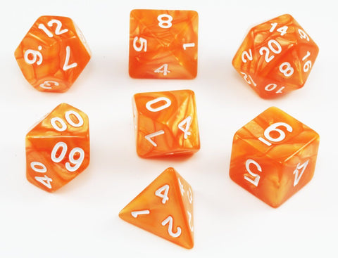 Orange Dungeons and Dragons Dice
