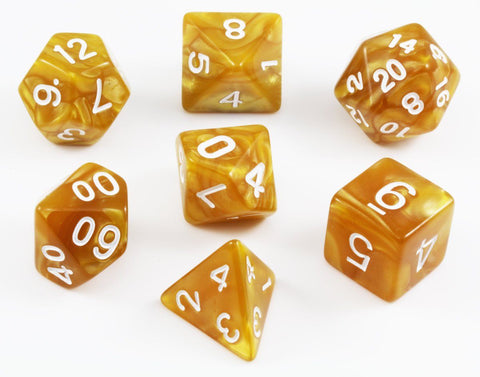 Gold Dungeons and Dragons Dice