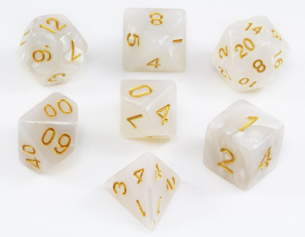 Pearl White D&D Dice