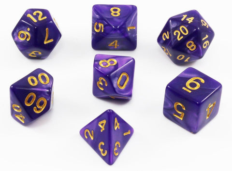 Purple Pearl RPG Dice