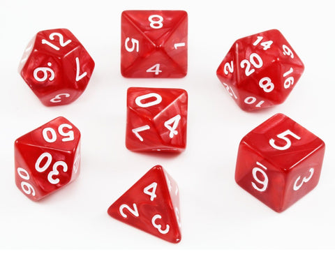Red Dungeons and Dragons Dice