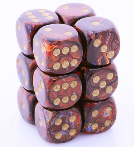 Scarab D6 Dice Blue Blood