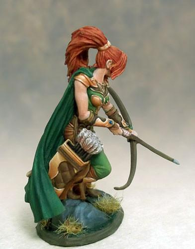 RPG Miniatures Female Ranger Bow