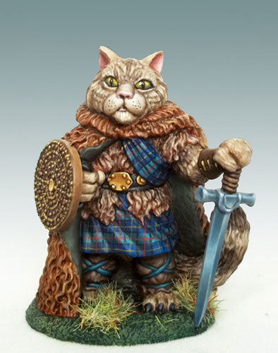 Catfolk Tabaxi Miniature Barbarian