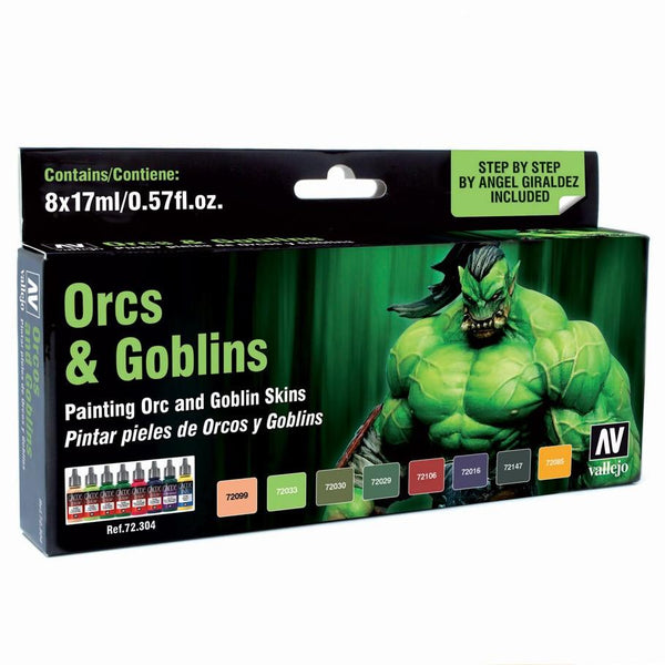 Vallejo Orcs and Goblins Paint Set