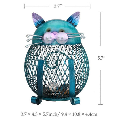 Tooarts Cat Piggy Bank Size