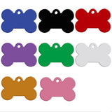 2 Pieces Dog or Cat Tag with Free Engraving Bone Shape