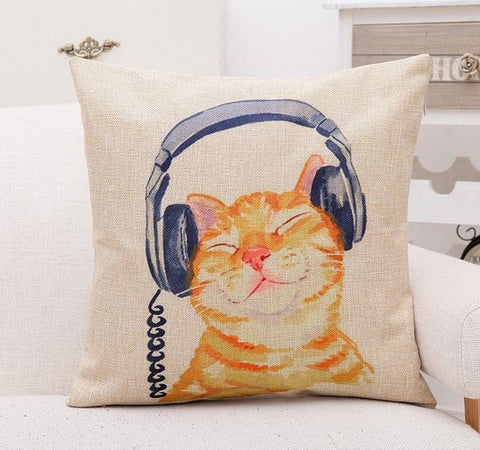 Funky Cat Cushion Cover