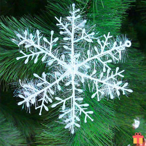 30 Pieces White Snowflake Ornaments