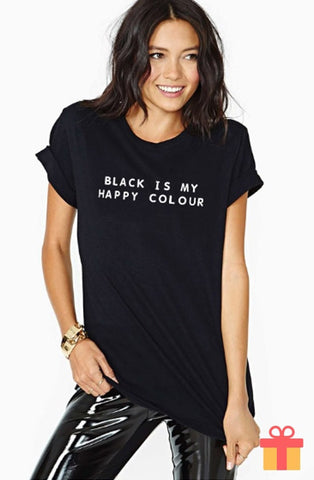 BLACK Is My Happy Color Tee