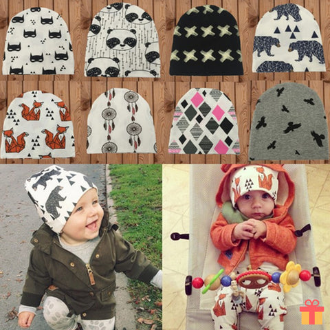 Baby Animals Design Warm Beanie