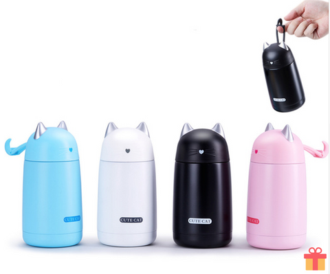 Cat Thermos Mini Bottle