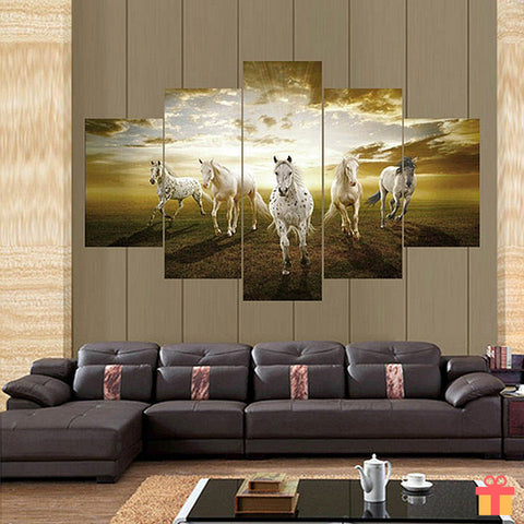 Charging Horse Canvas Painting