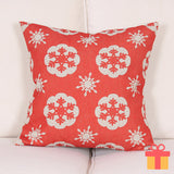 Christmas Theme Cushion Cover White Snow Flake Design