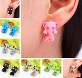 Colorful Elephant Stud Earrings