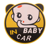 Cute-Baby-In-Car-Vinyl-Car-Stickers-Baby-Girl-Round