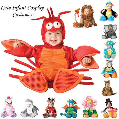 Infant Romper Animals Character Cosplay Custome