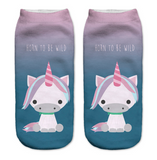 Cute Unicorn Socks Horns Design