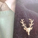Deer Antlers Pin Brooches Christmas
