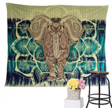 Elephant-Wall-Tapestry-Green-Dye