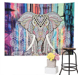 Elephant-Wall-Tapestry-Watercolor