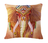 Elephant Series Cushion Covers Brown