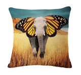 Elephant Series Cushion Covers Butterfly